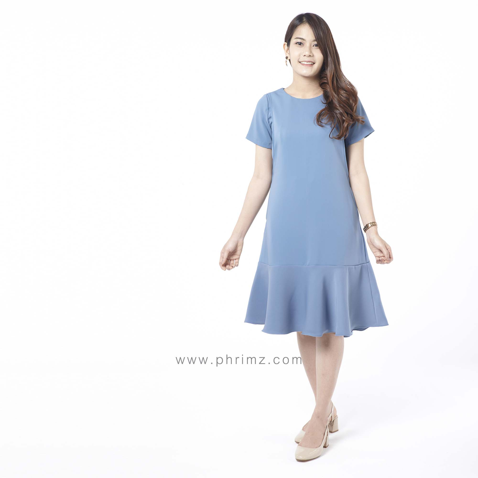 ชุดให้นม Phrimz : Mermaid Breastfeeding Dress - ฺBluberry