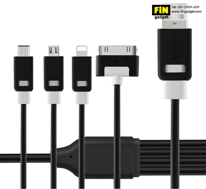 สายชาร์จ Earldom 4 in 1 Universal Safe Speed data Cable