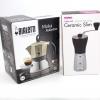 หม้อต้มกาแฟ Bialetti Moka Induction 3 cup (สีทอง) + เครื่องบดกาแฟ มือหมุน Hario Slim