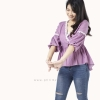 เสื้อให้นม Phrimz : Grace Breastfeeding Top - Magenta