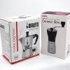 หม้อต้มกาแฟ Bialetti Moka Express 3 cup + เครื่องบดกาแฟ มือหมุน Hario Slim