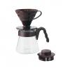 Hario อุปกรณ์ดริปกาแฟ รุ่น V60 coffee server set ขนาด 02 (สีน้ำตาล)