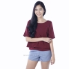 เสื้อให้นม Phrimz : Cindy Breastfeeding Top - Wine