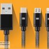 สายชาร์จ Earldom 3 in 1 iPhone+Micro USB+TYPE-C สีดำ