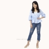 เสื้อให้นม Phrimz : Grace Breastfeeding Top - Sky Blue