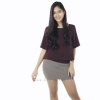 เสื้อให้นม Phrimz : Cindy Breastfeeding Top - Raisin