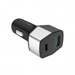 Nillkin Celerity QC3.0 Car Charger (Type-C+USB) - ที่ชาร์จในรถแบบเร็ว Nillkin สีเงินดำ