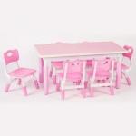 ชุดโต๊ะกิจกรรม 6 ที่นั่ง สีชมพู