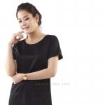 ชุดให้นม Phrimz : Dolly breastfeeding Dress - Black สีดำ