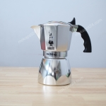 Bialetti หม้อต้มกาแฟ moka pot ขนาด 4 Cup รุ่น moka Brikka (Sliver)