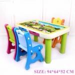 โต๊ะกิจกรรมเด็ก 3 ที่นั่ง สีเขียว