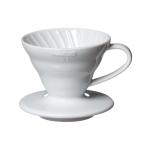 Hario V60 Dripper VDC-01 Ceramic ขนาด 1-2 Cups (สีขาว)