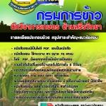 แนวข้อสอบ นักวิชาการเกษตร (ด้านสรีรวิทยา) กรมการข้าว