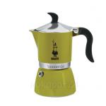 Bialetti หม้อต้มกาแฟ moka pot ขนาด 3 Cup รุ่น Fiammetta verde