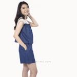 ชุดให้นม Phrimz : Zena Breastfeeding Jumpsuit - Dark Blue Jeans