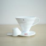 Hario V60 Dripper VD-02 พลาสติก ขนาด 1-4 Cups (สีขาว)