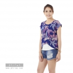 เสื้อให้นม Phrimz : Malee Breastfeeding Top - Ocean Blue