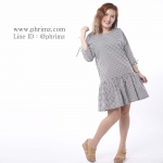 ชุดให้นม Phrimz : Briony Breastfeeding Dress - Black สีดำ