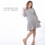 ชุดให้นม Phrimz : Briony Breastfeeding Dress - Black สีดำ