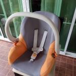 กระเช้าคาร์ซีท Leaman สีส้มเทา รหัสสินค้า CS0019