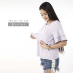 เสื้อให้นม Phrimz : Sophie Breastfeeding Top - Purple สีม่วง