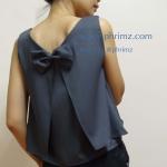เสื้อให้นม Phrimz : Belle breastfeeding top - Charcoal สีเทาเข้ม