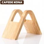 Cafede kona ที่ใส่กระดาษกรองสำหรับกาแฟดริป wooden V-fan-shaped ไม้รูปทรง V