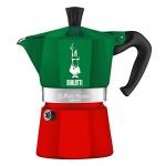 Bialetti หม้อต้ม กาแฟสด รุ่น Moka Express ขนาด 3 cups (สีเขียว-แดง)