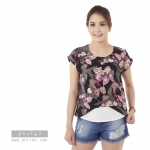 เสื้อให้นม Phrimz : Malee Breastfeeding Top - Black