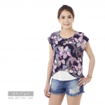 เสื้อให้นม Phrimz : Malee Breastfeeding Top - Navy Blue