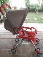 รถเข็นเด็กมือสอง Combi สีแดง-เทา รหัสสินค้า : C0017