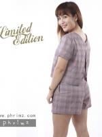 ชุดให้นม Phrimz : Nalynn Breastfeeding Top with Shorts - Purple