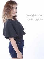 เสื้อให้นม Phrimz : Ivie Breastfeeding Top - Black สีดำ