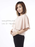 เสื้อให้นม Phrimz : Ivie breastfeeding top - Champagne