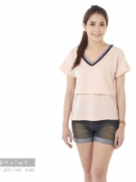 เสื้อให้นม Phrimz : Jasmine Breastfeeding Top - Pink