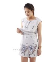 ชุดให้นม Phrimz : Merri Breastfeeding Jumpsuit - Gray