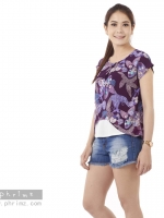 เสื้อให้นม Phrimz : Malee Breastfeeding Top - Purple