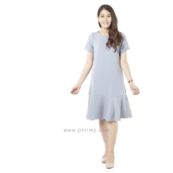 ชุดให้นม Phrimz : Mermaid Breastfeeding Dress - Charcoal Gray