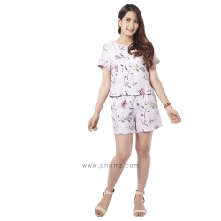 ชุดให้นม Phrimz : Nalynn Breastfeeding Top with Shorts - Lavender