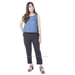 ชุดให้นม Phrimz : Honae Breastfeeding Jumpsuit - Blue Soda