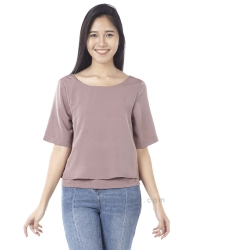เสื้อให้นม Phrimz : Cindy Breastfeeding Top - Old Rose