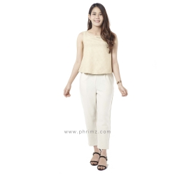 ชุดให้นม Phrimz : Honae Breastfeeding Jumpsuit - Sweet Honey