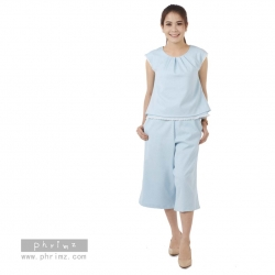 ชุดให้นม Phrimz : Daisy Breastfeeding Top with Culottes