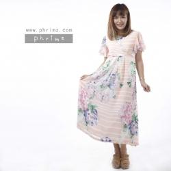 ชุดคลุมท้องเปิดให้นม Phrimz : Farrah Breastfeeding Dress