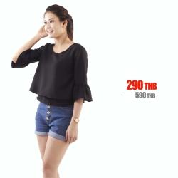 เสื้อให้นม Phrimz : Becky Breastfeeding Top - Black สีดำ
