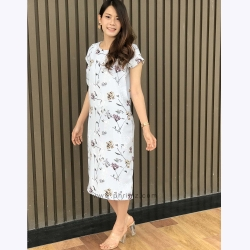 ชุดให้นม Phrimz : Ava Breastfeeding Dress - Cloud