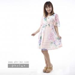 ชุดคลุมท้องเปิดให้นม Phrimz : Farryn Breastfeeding Dress