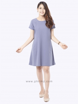 ชุดให้นม Phrimz : Elsa Breastfeeding Dress - Gray
