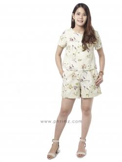 ชุดให้นม Phrimz : Nalynn Breastfeeding Top with Shorts - Olive
