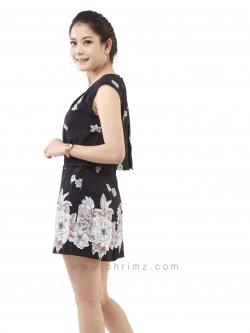 ชุดให้นม Phrimz : Merri Breastfeeding Jumpsuit - Black